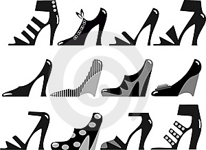 Fashionable Women's Footwear Royalty Free Stock Photography - Image: 17010427