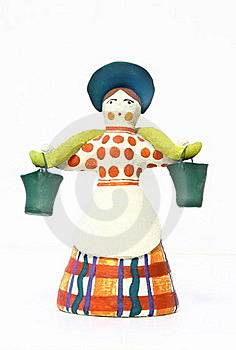 Woman With Pails Stock Images - Image: 17010534