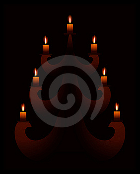 Fur-tree With Candles Stock Photography - Image: 17010752