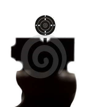 View Of Correct Aiming Into Sport Target Stock Images - Image: 17010884