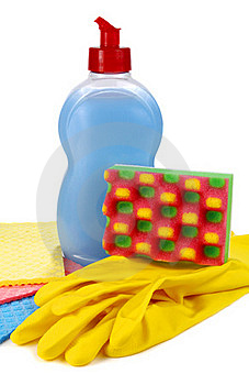 Objects For Washing And Cleaning Up On Kitchen Stock Photos - Image: 17010913