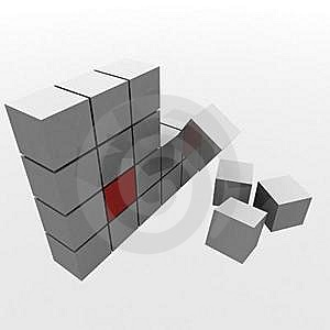 Metal Cube Stock Images - Image: 17011184