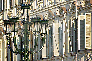 A Streetlight Characteristic Of The Center Of Turi Stock Image - Image: 17011211