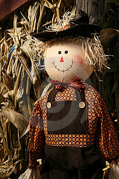 Happy Scarecrow Royalty Free Stock Images - Image: 17012539
