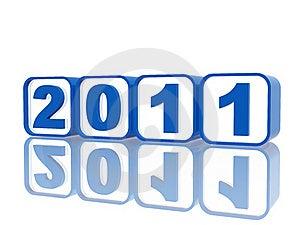 Blue Cubes 2011 Stock Image - Image: 17012671