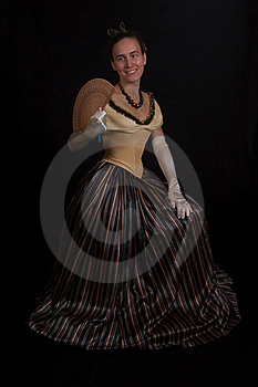 Girl In Nineteenth Century Dress Royalty Free Stock Image - Image: 17012696