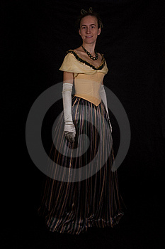 Girl In Nineteenth Century Dress Royalty Free Stock Images - Image: 17012699