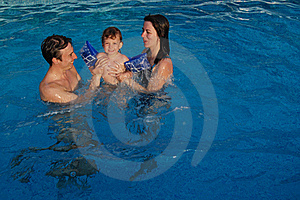 Family In Pool Stock Images - Image: 17013594