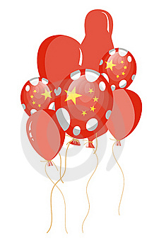 Red Balloon Of Chinese Flag Royalty Free Stock Image - Image: 17014606