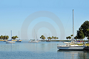 Sailboats In A Cove Royalty Free Stock Photo - Image: 17014895