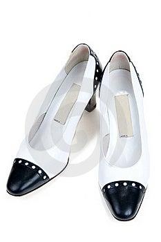 White Feminine Varnished Loafers Royalty Free Stock Images - Image: 17017299