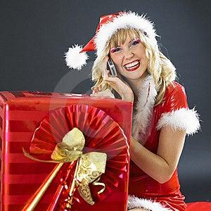Calling Santa Claus Stock Photography - Image: 17019142