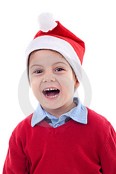 Boy As Santa Claus Royalty Free Stock Photos - Image: 17022478