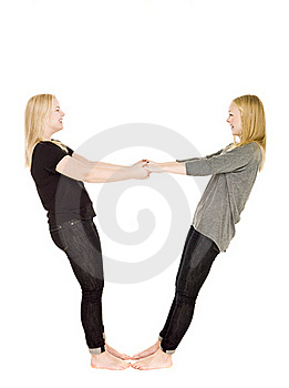 Girls Holding Hands Royalty Free Stock Images - Image: 17022479