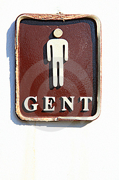Male Restroom Sign Stock Photo - Image: 17025130