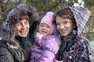 Young Mother With Two Daughters Stock Images - Image: 17026754
