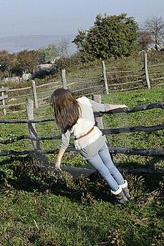 Girl Enjoying Freshness Royalty Free Stock Images - Image: 17035219