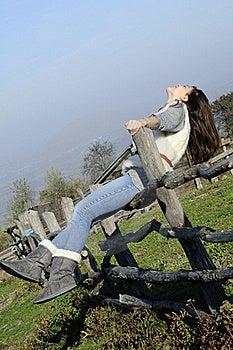 Happy Woman Enjoying Autumn Royalty Free Stock Image - Image: 17035266