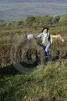 Woman Running Outside Stock Image - Image: 17035301