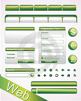 Vector Website Elements Royalty Free Stock Image - Image: 17038996