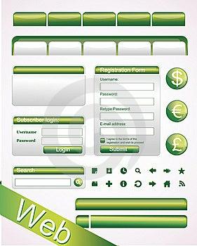 Vector Website Elements Free Stock Image