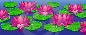 Lotuses Royalty Free Stock Photo - Image: 17042115