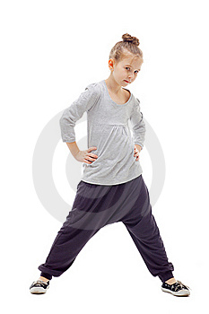 Sporty Little Girl Royalty Free Stock Photography - Image: 17042977