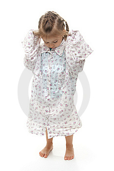 Young Girl Wearing Oversized Shirt Royalty Free Stock Images - Image: 17043319