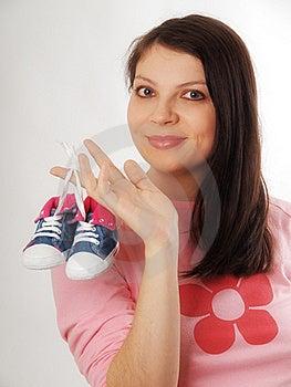 Pregnant Woman In Studio Stock Photo - Image: 17043440