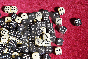 Dices On The Red Velvet Stock Photo - Image: 17044390