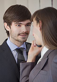 Romantic Relationship In Office Stock Photography - Image: 17044582