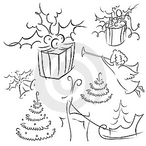 Christmas Contour Set 2 Stock Photos - Image: 17046073