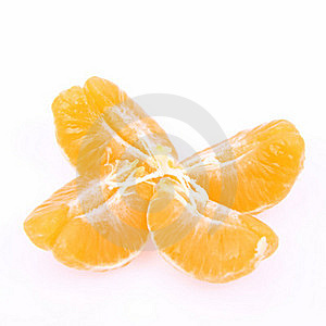 Segments Of Mandarin Royalty Free Stock Photos - Image: 17046548