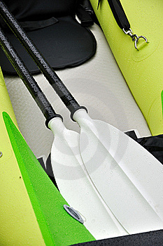 Oars Of Rubber Boat Stock Photo - Image: 17046970