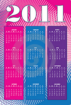 Calendar Organizer For 2011 Stock Image - Image: 17049341