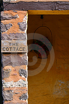 Doorway Of Cottage In Exmoor Royalty Free Stock Photo - Image: 17051115