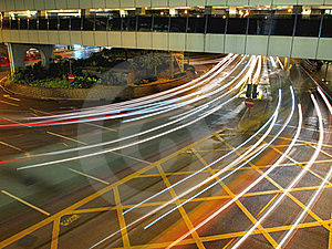 Traffic In The City At Night Royalty Free Stock Photos - Image: 17053178