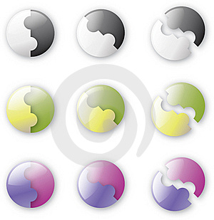 Button-like Puzzle Stock Photography - Image: 17055172