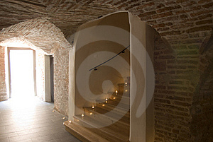 Stairs In An Old Building Royalty Free Stock Image - Image: 17056996