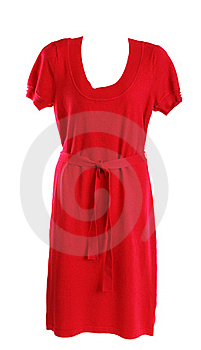 Red Feminine Knitted Gown Royalty Free Stock Photo - Image: 17057595