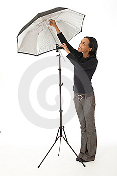 Photographic Assistant Royalty Free Stock Image - Image: 17058696