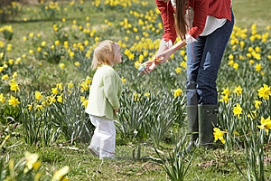 Mother And Daughter With Decorated Easter Eggs Royalty Free Stock Photo - Image: 17060825