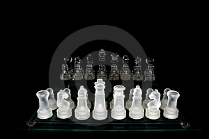 Crystal  Chess Board And Figures Royalty Free Stock Photo - Image: 17062005