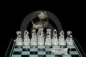 Crystal World Chess Globe Royalty Free Stock Photography - Image: 17062057