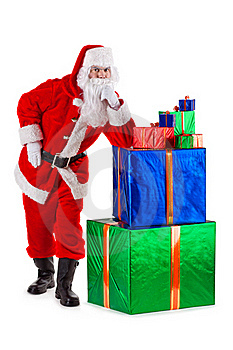 Santa Claus In Thought And Serious Royalty Free Stock Photo - Image: 17064535