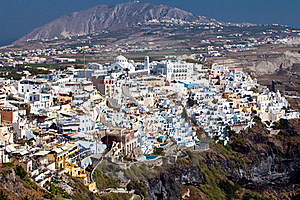Panoramic View Of Fira, Santorini Royalty Free Stock Photography - Image: 17065377