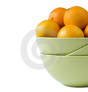 Part Of A Bowl With Tangerines Stock Image - Image: 17065751