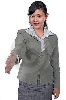 Business Woman Shake Hand Stock Photo - Image: 17066810