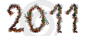 Number 2011 With Snow Stock Images - Image: 17069004