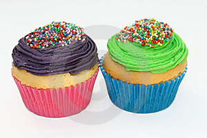 Iced Cupcakes Royalty Free Stock Photos - Image: 17070458